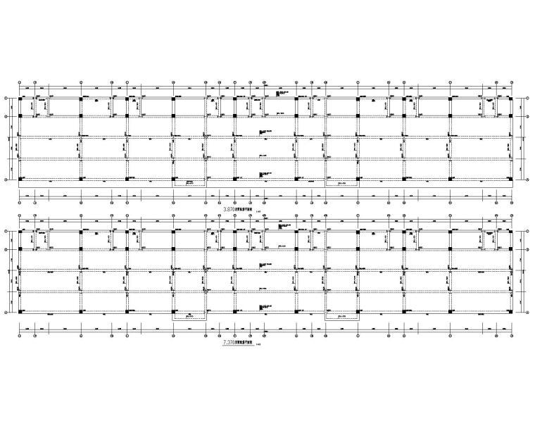七层公建商业混凝土结构施工图(CAD)