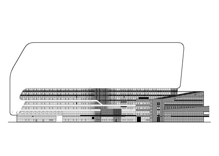 特大型企业医院地下室基坑支护建筑施工图