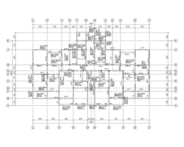 18层住宅小区全套结构施工图(CAD)
