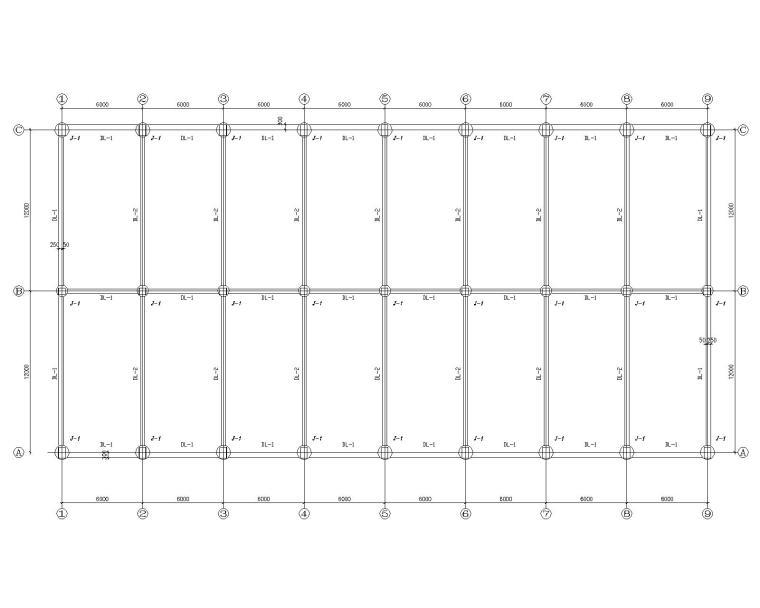 一套完整办公区各类结构施工图(CAD)