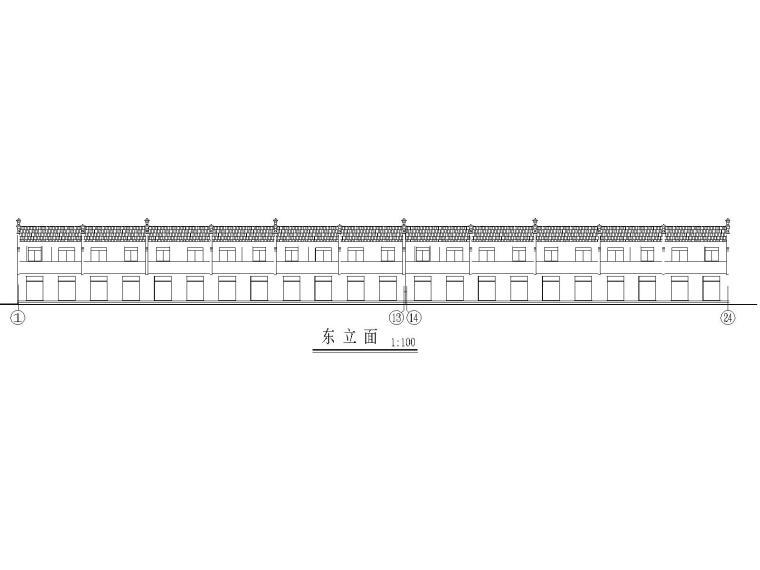 二层门面_居住楼建筑施工图CAD
