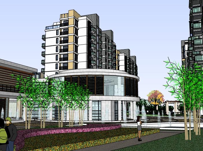 某现代风格住宅建筑模型设计