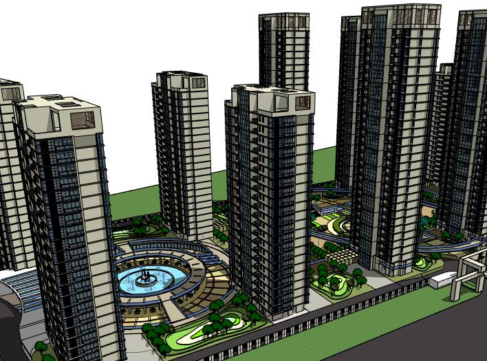 某高层住宅楼盘建筑模型设计