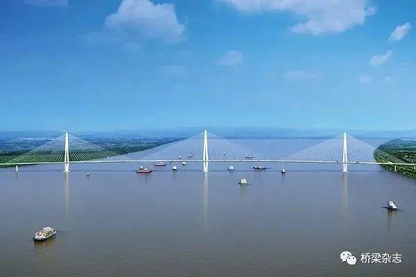 世界首座轻型钢混结构斜拉桥南京长江五桥