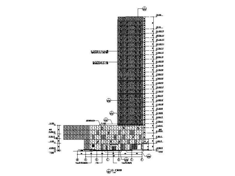 27层超高层商业综合体玻璃幕墙施工图2014