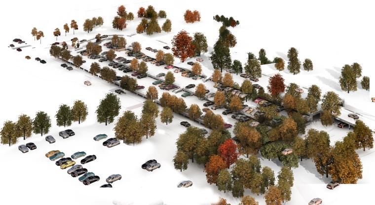 景观鸟瞰植物PS素材(1)_植物、树、水体