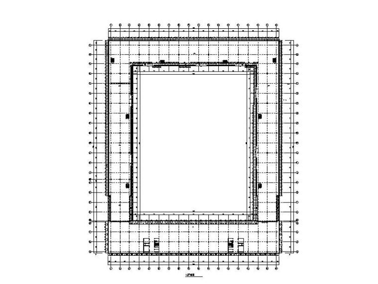 研发科技园幕墙施工图_玻璃幕墙/金属幕墙-二层平面图