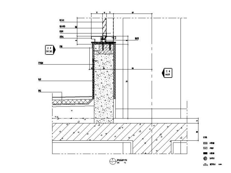 研发科技园幕墙施工图_玻璃幕墙/金属幕墙-百叶窗台底收口节点