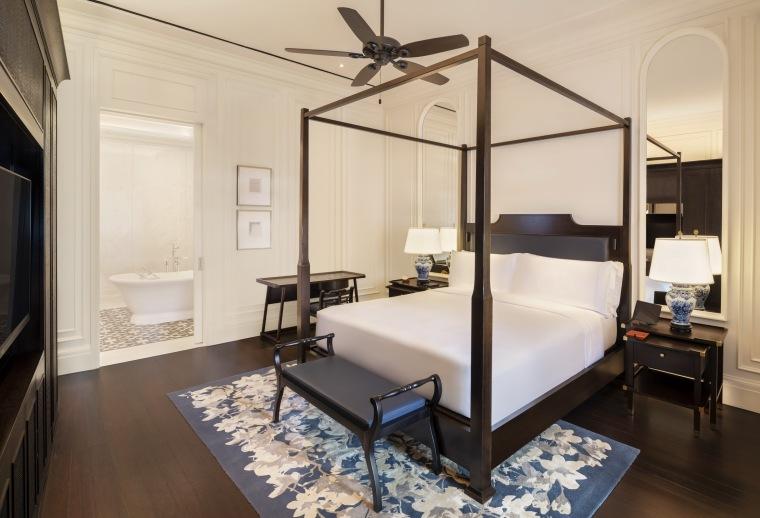 酒店客房,图片来自 Raffles Hotel