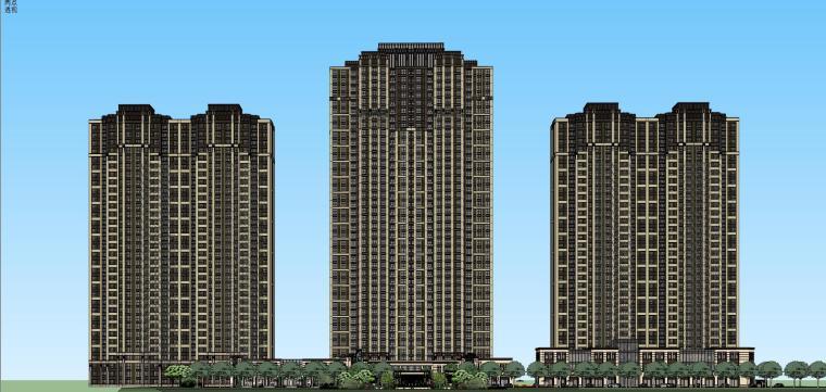 新古典+高层商业建筑模型设计