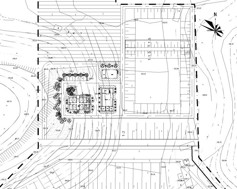 某江市垃圾处理场(填埋场)施工图-含结构电