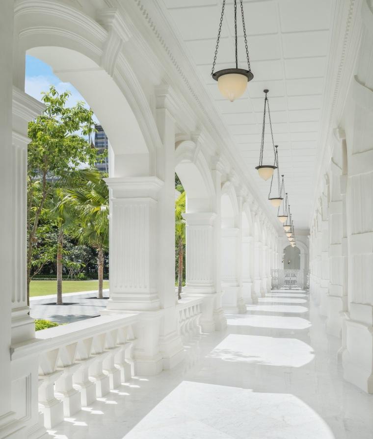 柱廊走道,图片来自 Raffles Hotel