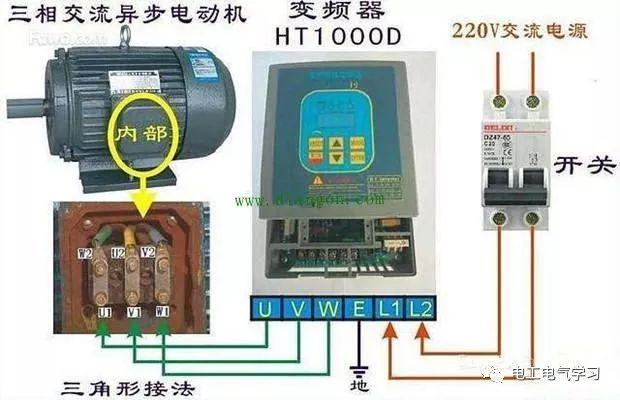 变频器接线和参数设置