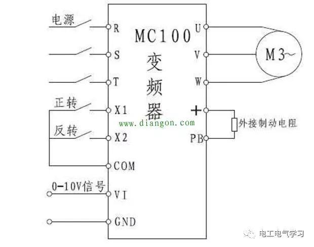 变频器接线和参数设置_2