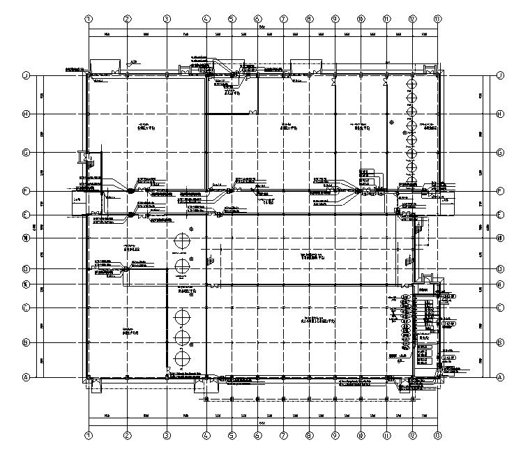成都某酒业公司新建生产工业厂房施工图纸