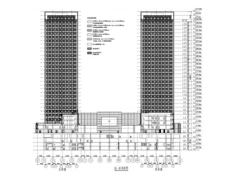 29层超高层商业办公楼玻璃幕墙施工图2015