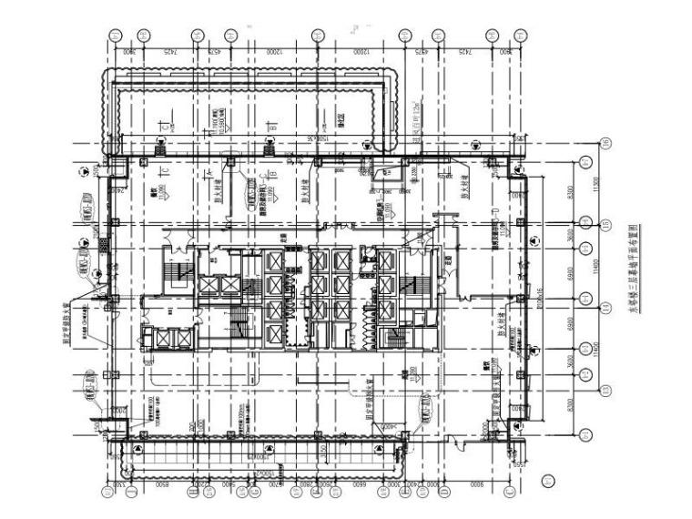 29层超高层商业办公楼玻璃幕墙施工图2015-东塔楼三层幕墙平面布置图