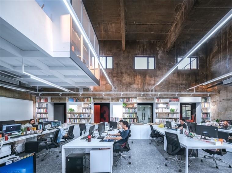 武汉474㎡老厂房改造UAO新办公室
