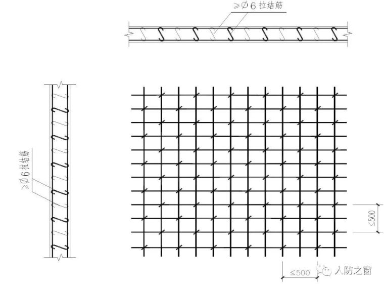 人防墙板的拉结筋及预埋管如何设置