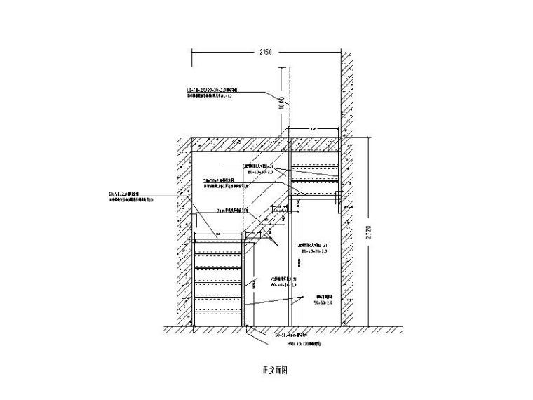 钢结构楼梯图CAD