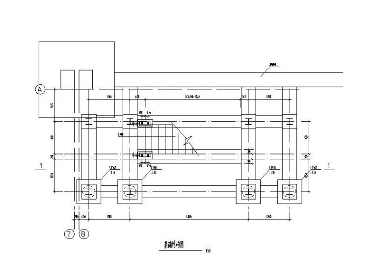 新增室外钢梯结构图CAD