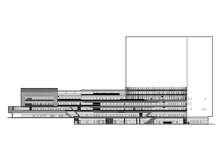 特大型企业医院门诊住院楼建筑施工图