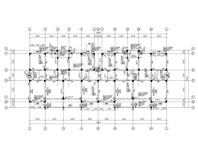 某五层住宅混凝土结构施工图(CAD)