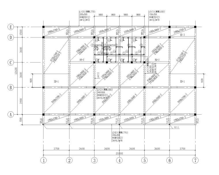 某多层办公楼混凝土结构施工图(CAD)