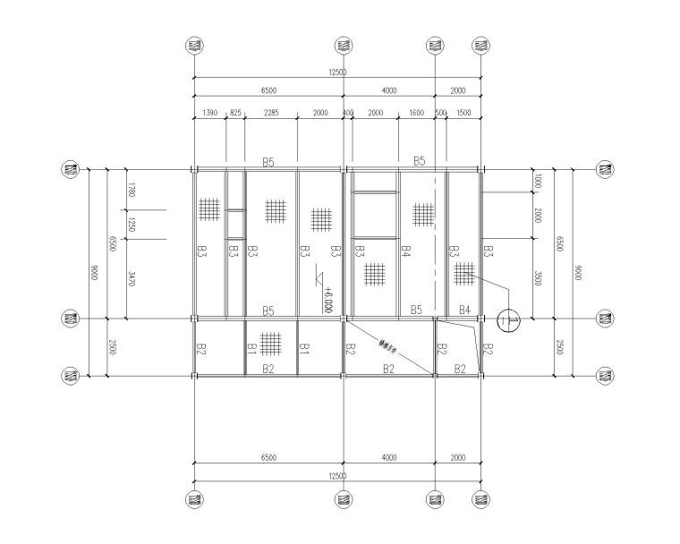 某钢结构框架办公室结构施工图(CAD)