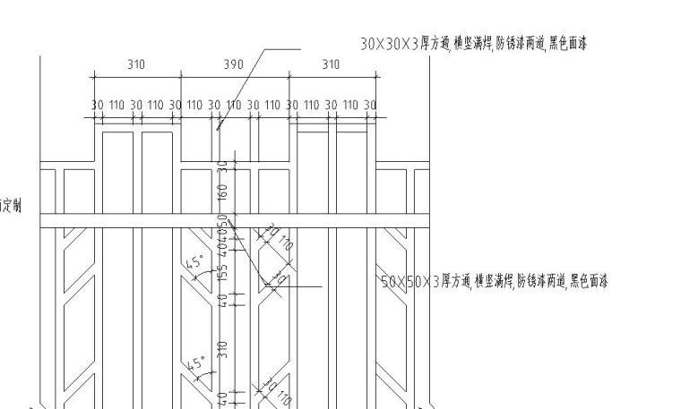 园林景观节点详图围墙施工图设计五