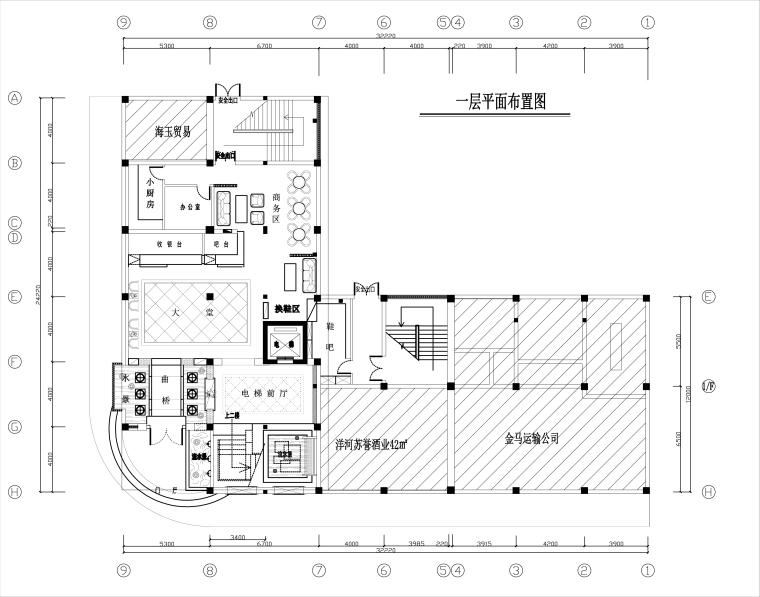 [广东]湛江足浴店室内设计施工图+效果图