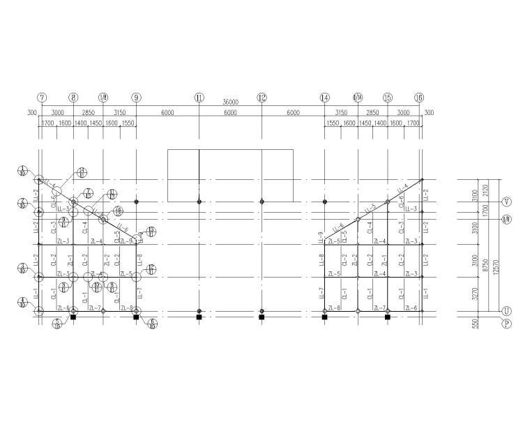 某小型医疗建筑结构施工图(CAD)
