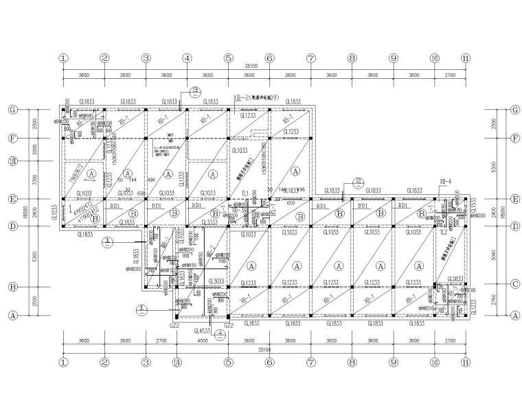 某五层砖混结构宿舍施工图(CAD)