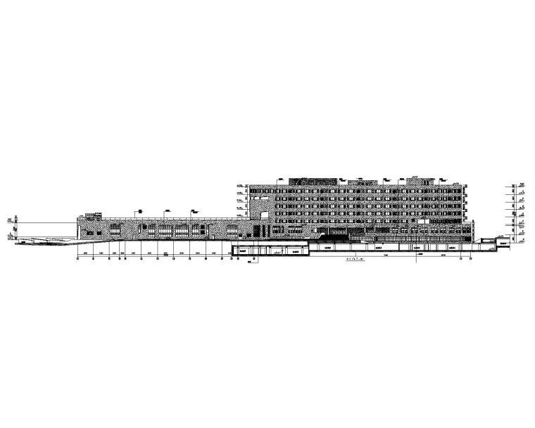6层金融区教育基地外装饰幕墙工程施工图