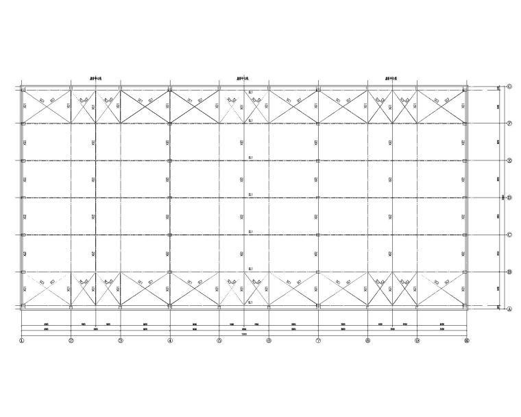某36米跨钢结构厂房结构施工图(CAD)