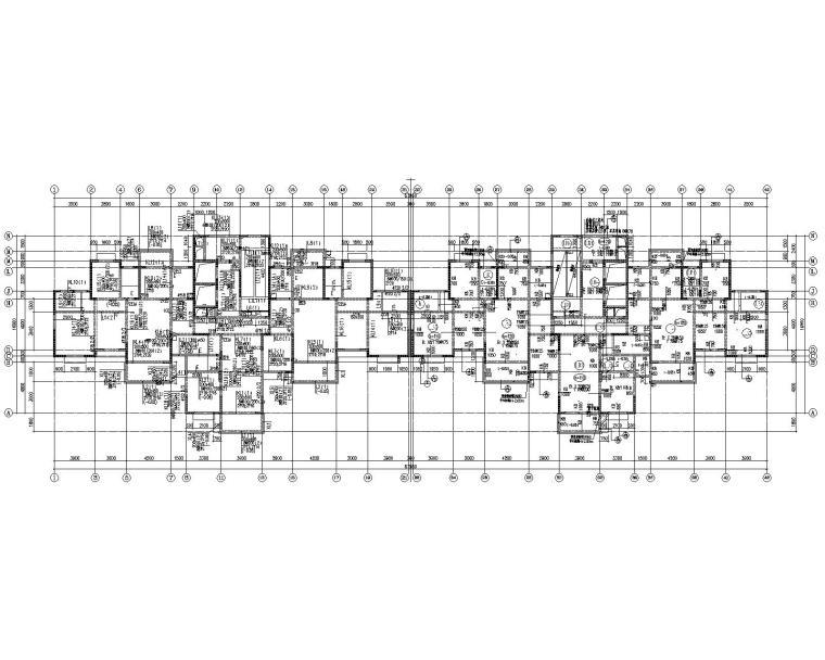 某25层高层住宅剪力墙结构施工图(CAD)
