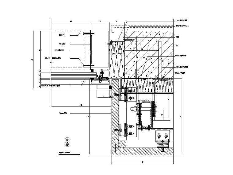 铝合金窗节点_防火窗节点_地弹簧门节点CAD