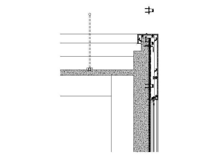 29层国际公寓幕墙施工图2016_石材铝板幕墙-防雷节点详图