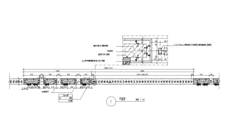 园林景观节点详图围墙施工图设计六