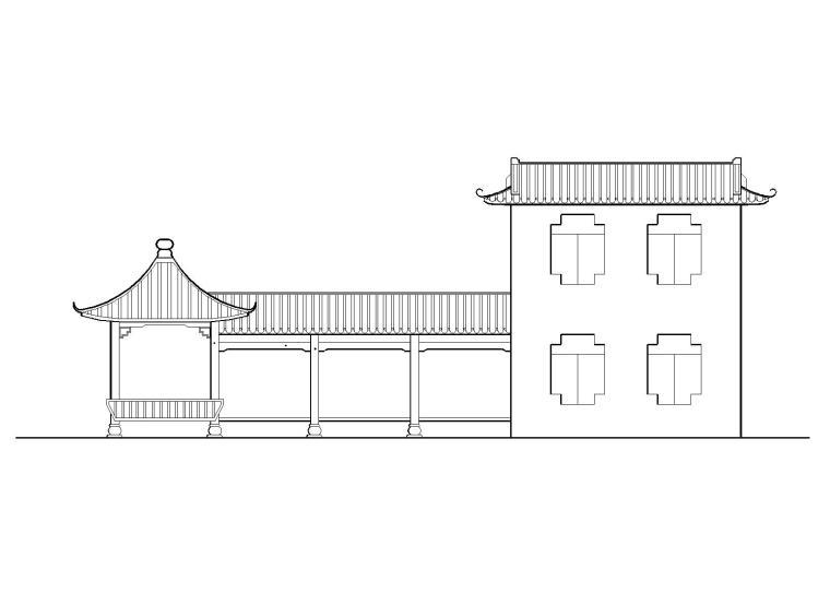 古建筑小品施工图设计