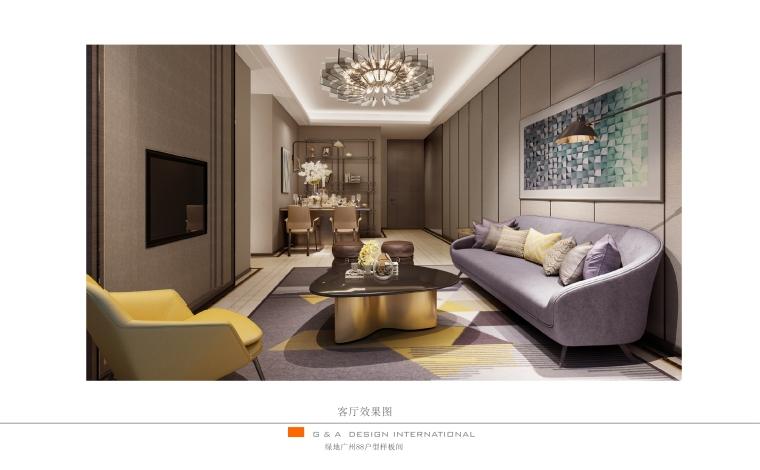 [广东]绿地广州88户型样板房软装设计方案