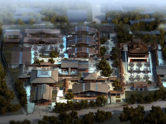 青城书院概念方案设计文本_现代中式风格