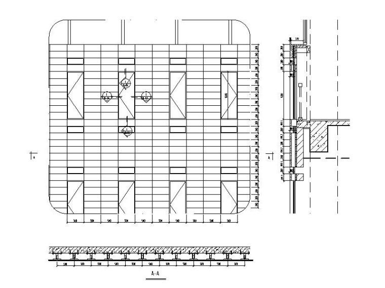 陶土板幕墙系统标准图CAD