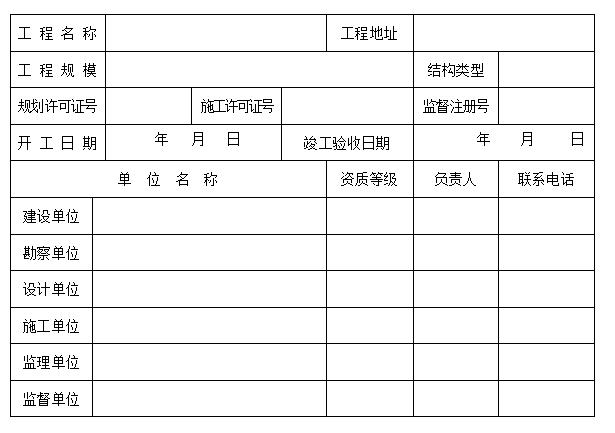 市政工程竣工验收报告及条件审查表