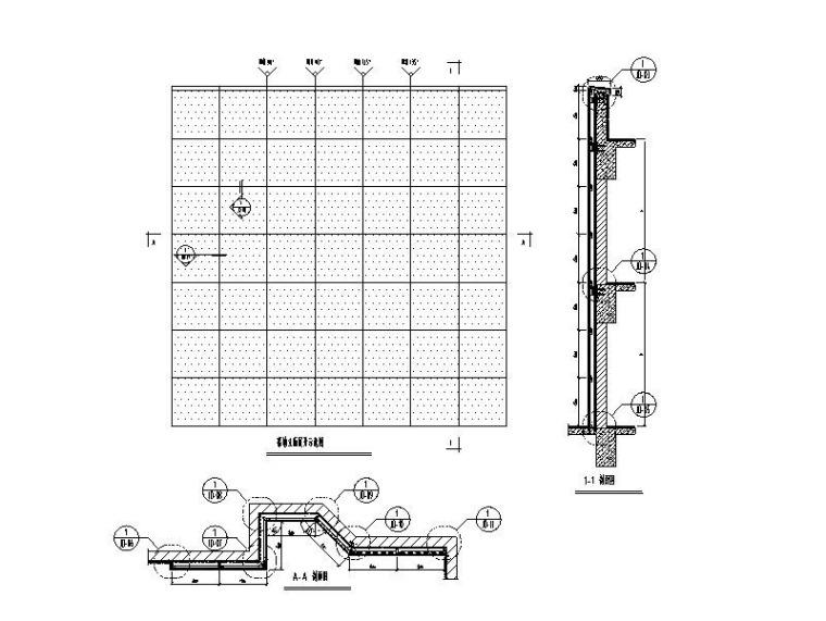 特殊板幕墙系统标准图CAD