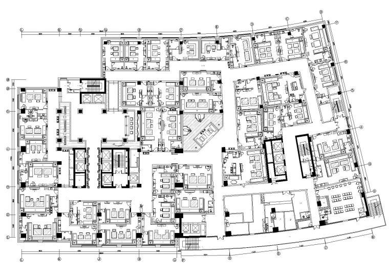 [北京]金豪国际会所室内设计施工图+效果图