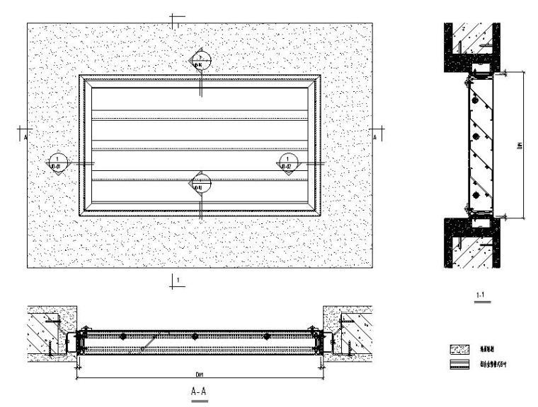 幕墙百叶系统标准图CAD