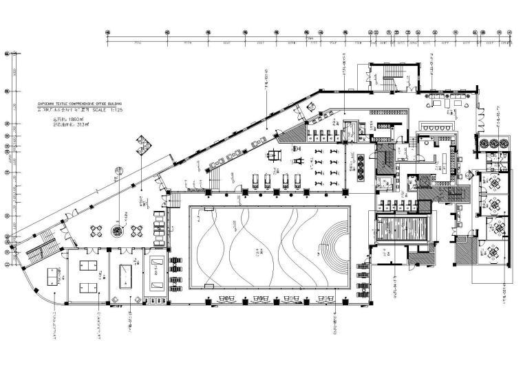简欧风格水疗休闲会所设计施工图+效果图