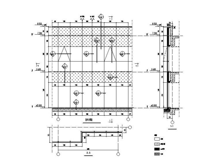 框架式幕墙系统标准图CAD