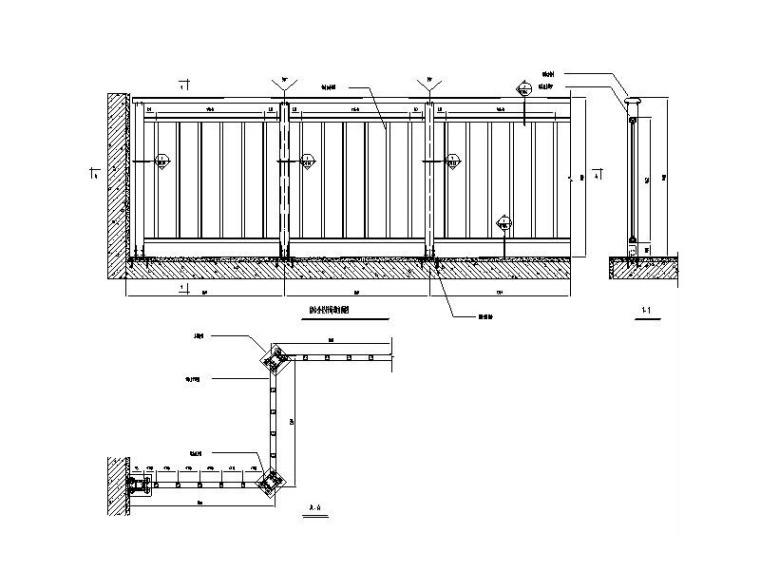 幕墙栏杆系统标准图CAD